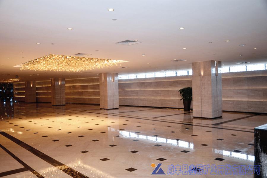 加州米黄大理石,安琪米黄,英啡米黄工程案例——佛山希尔顿酒店