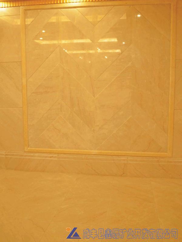 加州米黄大理石,安琪米黄,英啡米黄工程案例——重庆融创御锦