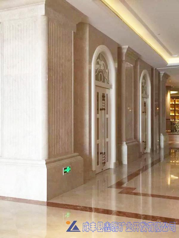 加州米黄大理石,安琪米黄,英啡米黄工程案例——西宁新华联索菲特大酒店
